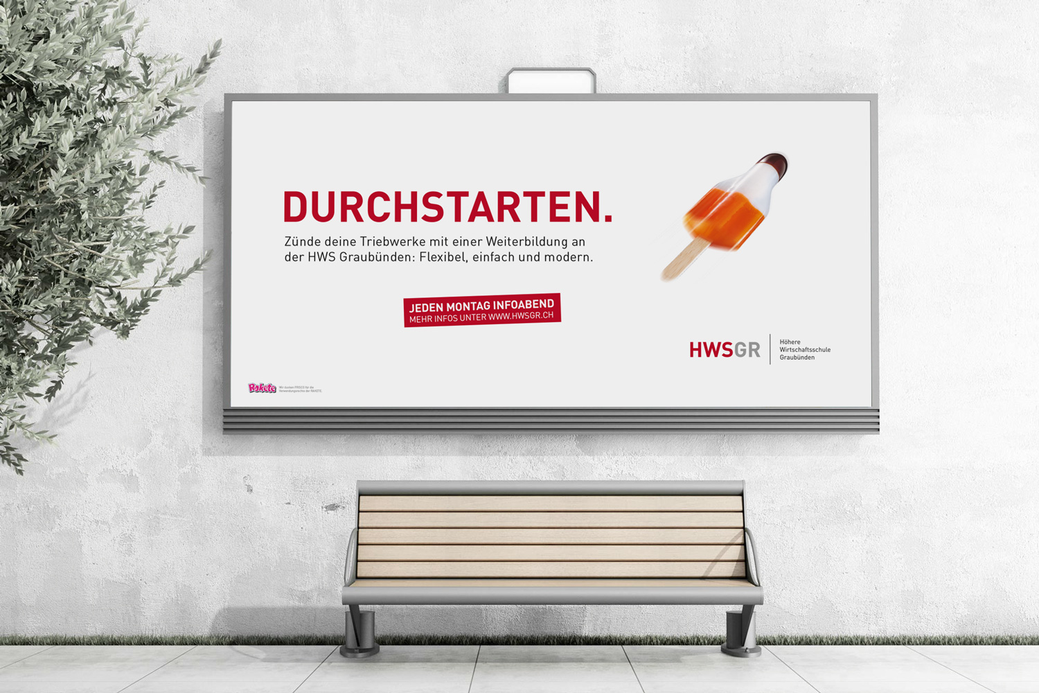 YES! creative digital marketing client hwsgr höhere wirtschaftsschule graubünden branding corporate identity corporate design branding plakatkampagne plakat apg