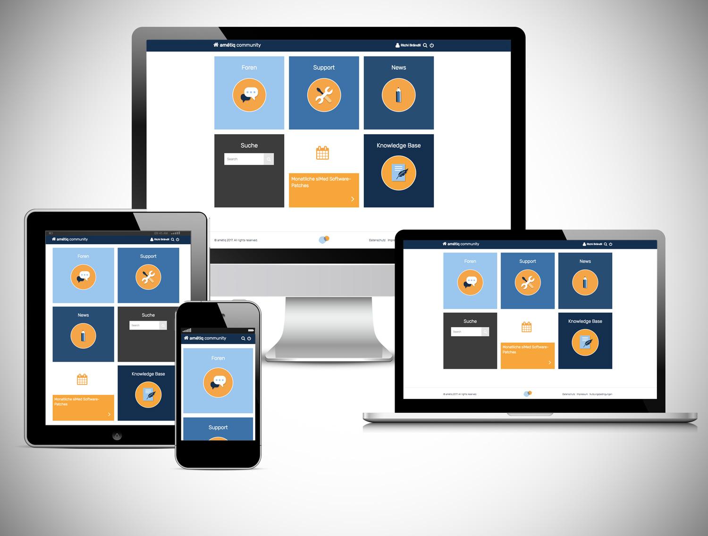 YES! creative digital marketing client ametiq community ui/ux design responsive