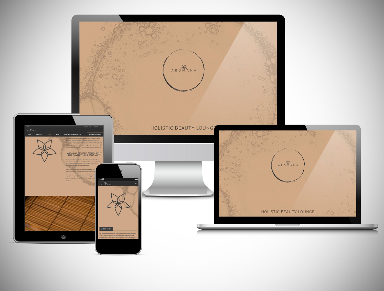 YES! creative digital marketing client aromana 6 responsive website