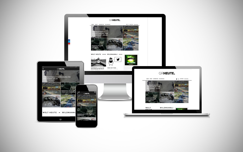 YES! creative digital marketing client grheute app design website responsiveness interaction design