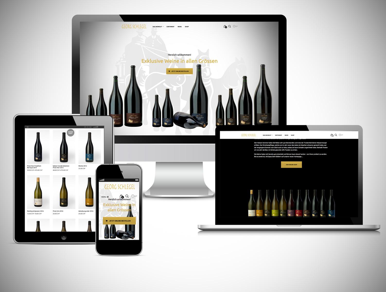 YES! creative digital marketing client georg schlegel website repsonsive e-commerce online shop mobile