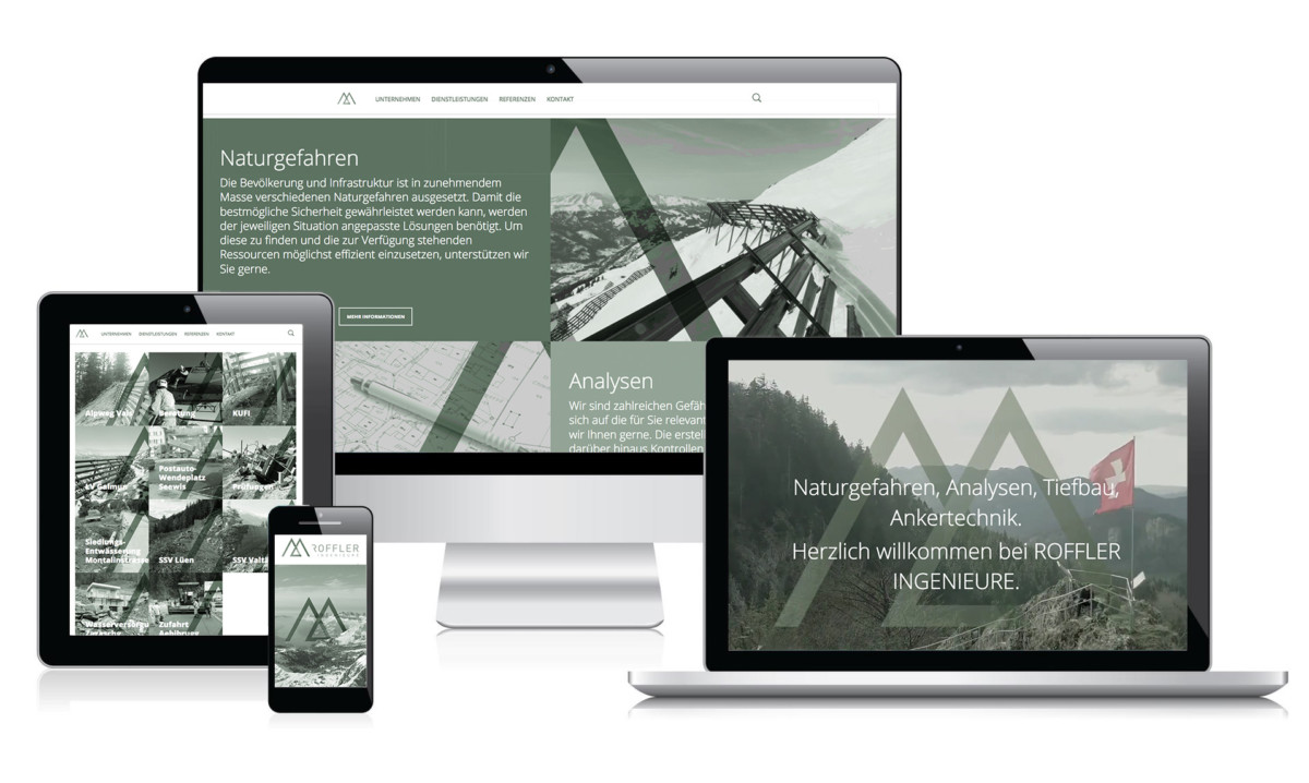 YES! creative digital marketing client roffler ingenieure branding corporate identity corporate design website responsive