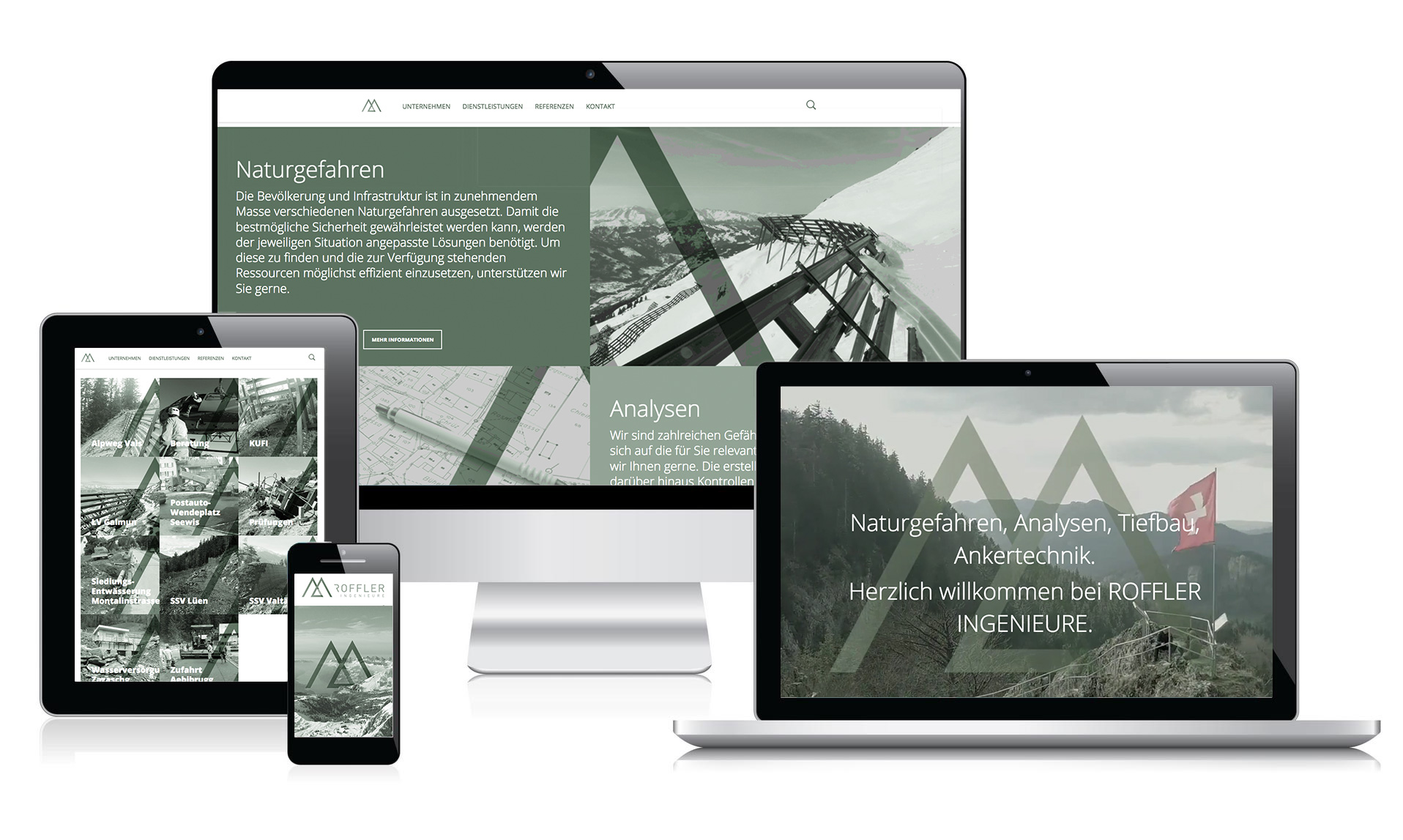 YES! creative digital marketing client roffler ingenieure branding corporate identity corporate design website responsive